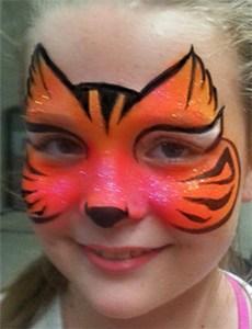 Bengal tiger face painting Cincinnati Bengals