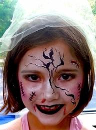 Bridezilla Cincinnati Playhouse Summer Camp face painting