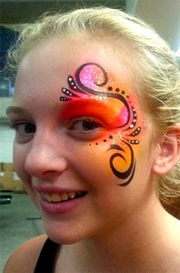 Cincinnati Bengals Family Day face painting