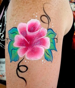 New-Rose-Bouquet Body painting