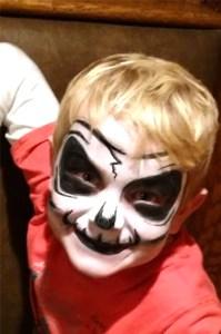 Skull El Rancho Nuevo face painting