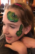 Snake face painting El Rancho Nuevo