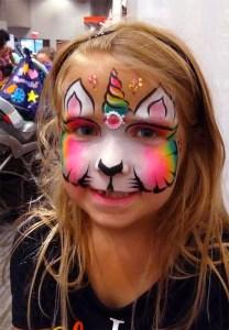 Baby Expo 2018 Unicorn face painting unicorn cat Cincinnati
