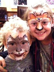 Reindeer Face Painting Wolf Face Painting Cincinnati El Rancho Nuevo