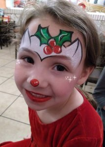 Christmas Fox face painting Cincinnati Ohio El Rancho Nuevo
