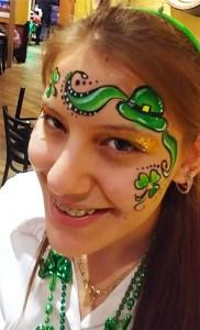 Face painting St Patty's Day Cincinnati Ohio