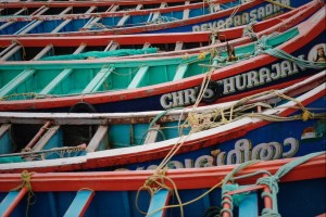 Kochi, Fort Kochi, fishing boats, Kerala, South India, India