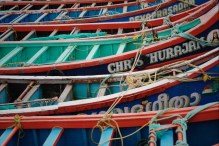 Kochi, Fort Kochi, fishing boats, Kerala, South India, India