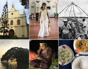 Kochi, Fort Kochi, Chinese fishing nets, Kathakali, Saint Francis Church, Brunton Boatyard, South Indian cuisine
