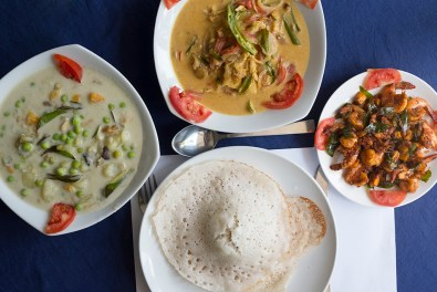 Casa Linda, fish molee, Ishtoo, coconut prawns, appam, Kochi, Fort Kochi, Cochin, Kerala, South India, India, Faces Places and Plates blog