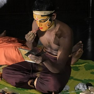Kathakali, theatre makeup, Kochi, Fort Kochi, Cochin, Kerala, South India, India, Faces Places and Plates blog