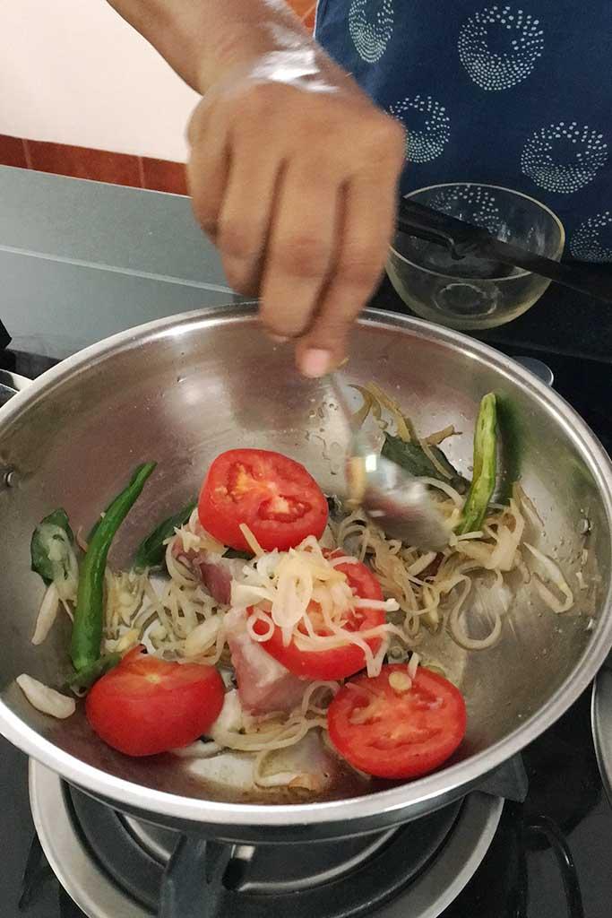 Nimmy & Paul cooking school, Nimmy Paul, fish, fish molee, Nimmy&Paul, Cochin, Kochi, South India, India, Indian Cooking Schools, Indian Cooking, Faces Places and Plates Blog