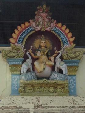 Chettiar mansion detail, Goddess Lakshmi, Karaikudi, Chettinad, Tamil Nadu, South India, India, Faces Places and Plates blog