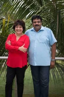 Chindi Varadarajulu and Mr Sethuramen, Grande Bay Resort, Mamallapuram.