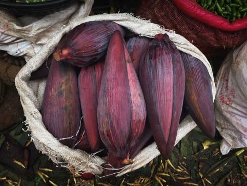 Banana flower sold at market