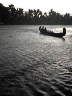 Afternoon monsoon in the Kerala Backwaters.