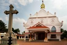Syrian Christian Church, Chennamkary, Keralan backwaters.