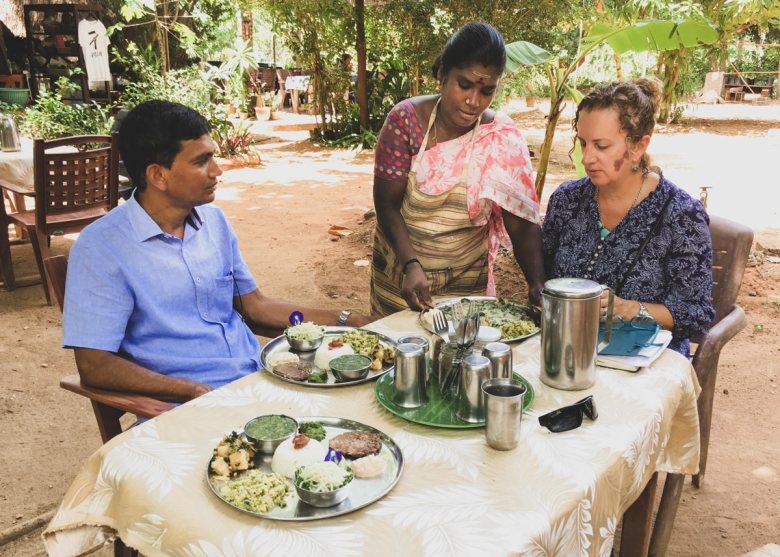 An al fresco South Indian lunch in Auroville - City of Dawn