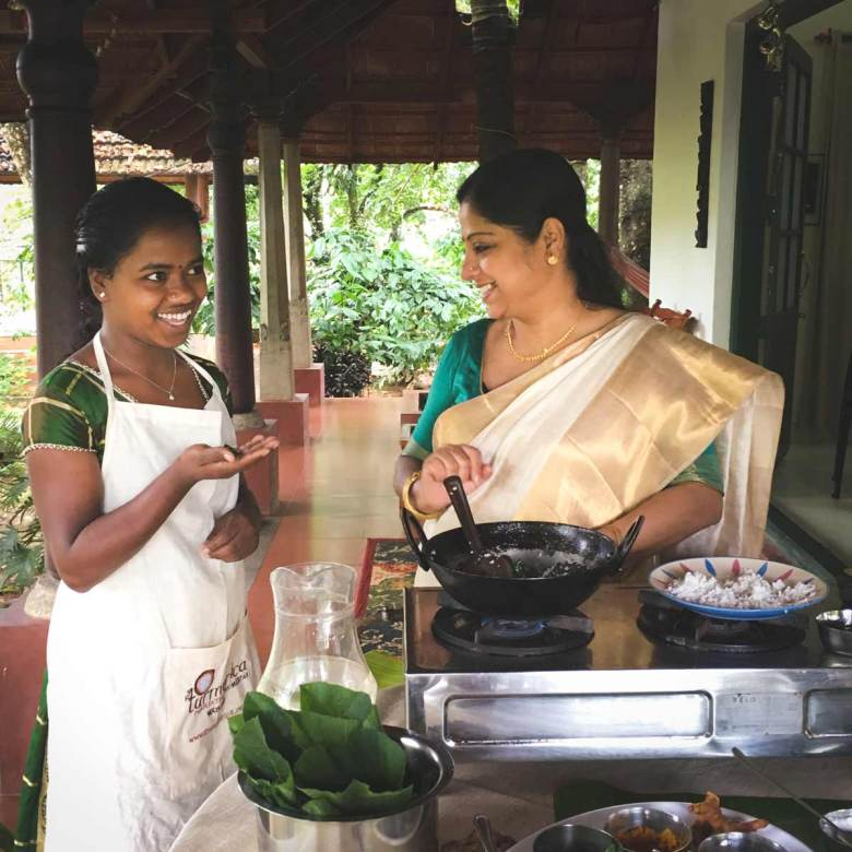 Ranjini-and-Akila-prepare-pumpkin-leaf-curry