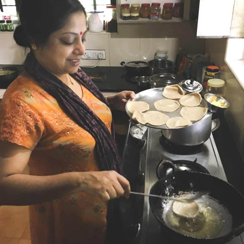 Ranjini-cooking-puri-deep-fried-bread