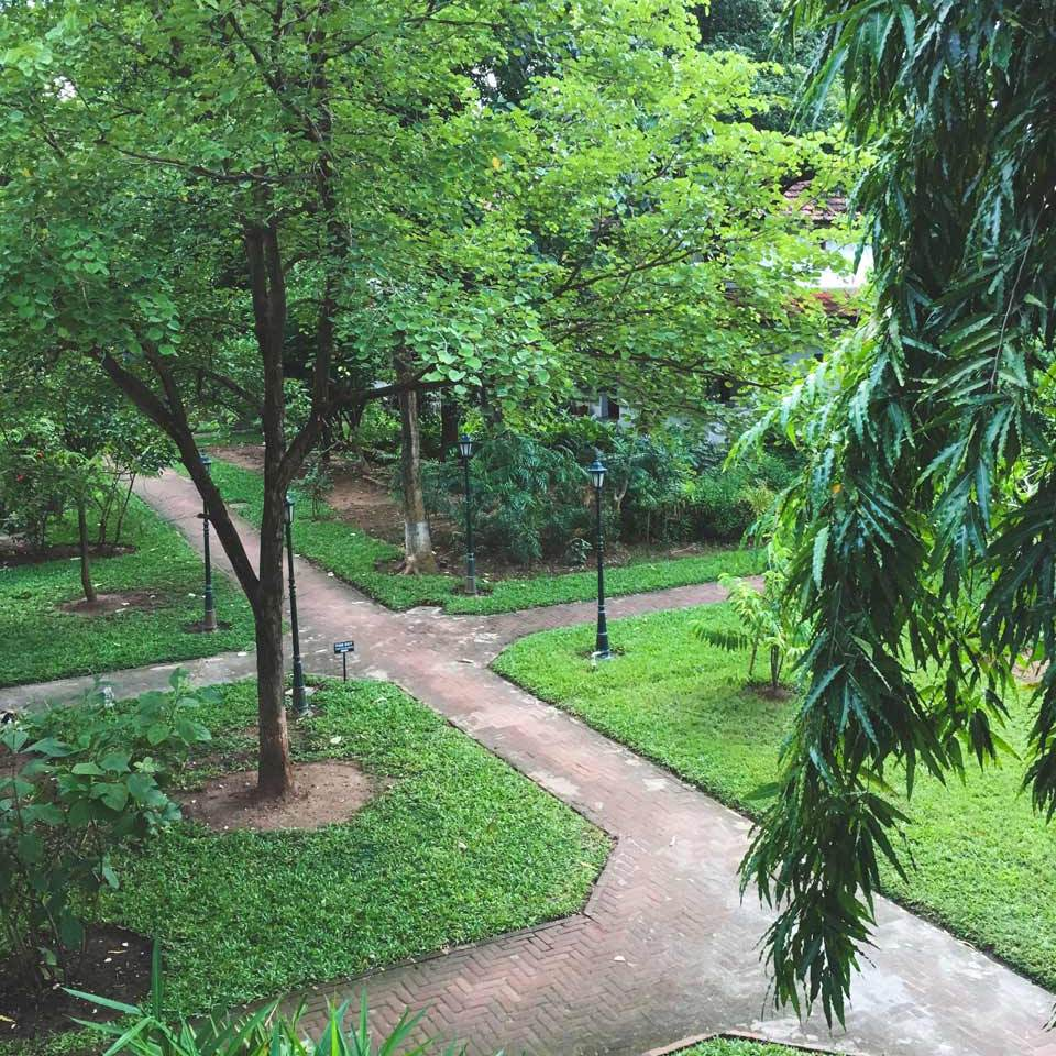 Kalari Kovilakom outdoor pathway