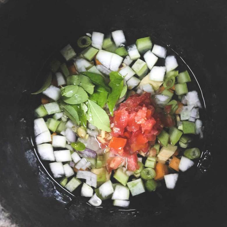 an Ayurvedic meal preparation
