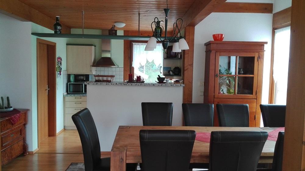 Blick in den offenen Kochbereich