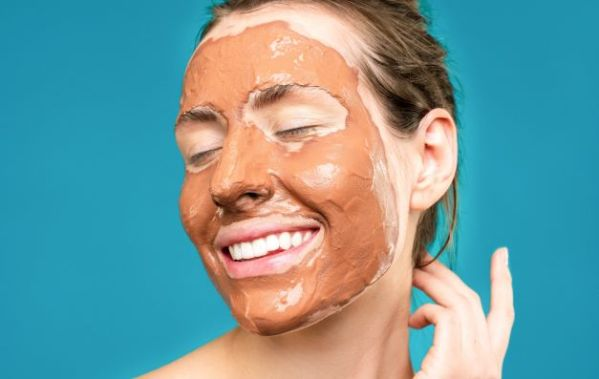 basic facial cleanup applying face mask
