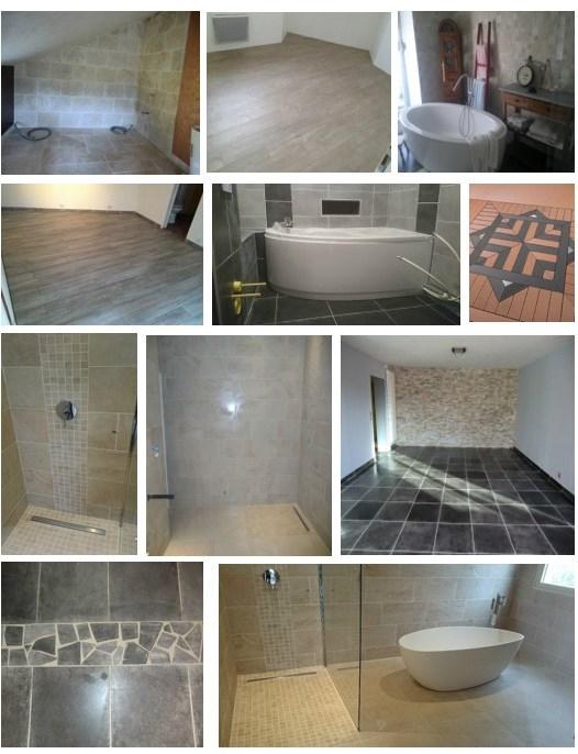 Carrelage terrasse faïence salle de bain douche italienne Isère 38 Drôme 26