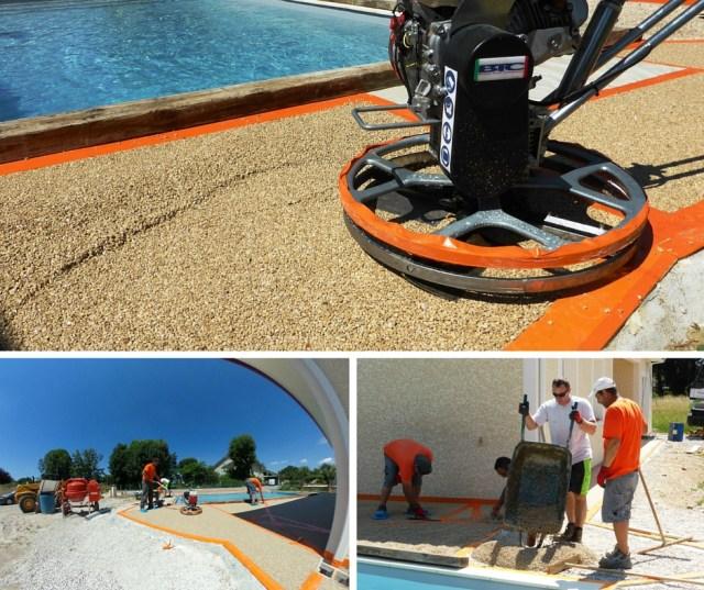 Terrasse  plage de piscine Hydroway Isère Drome- revêtement de sol extérieur drainant et perméable 4