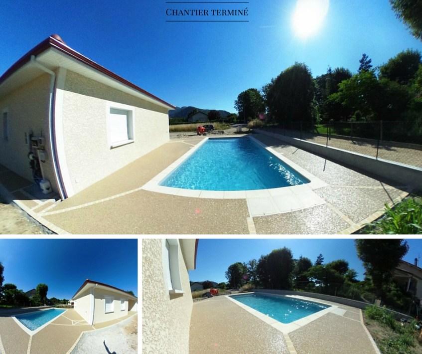 Terrasse  plage de piscine Hydroway Isère Drome - revêtement de sol extérieur drainant et perméable 5