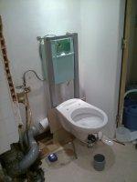 installation toilette encastré - salle de bain grenoble