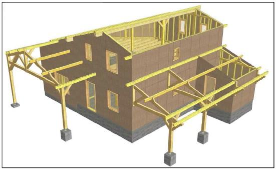 plan maison bois Voiron Isère