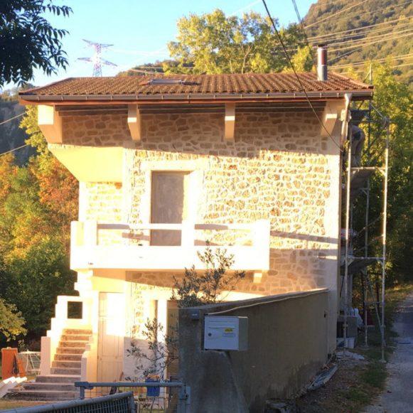 Isolation extérieur imitation pierre Grenoble Isère 38