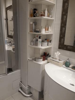 meuble de salle de bains d angle en