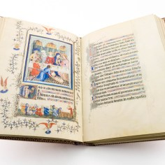 Overview of text and image of the Très Belles Heures
