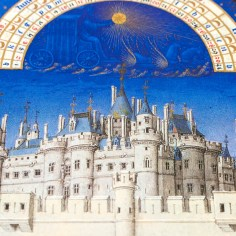 Example of fine architectural features in the Très Riches Heures