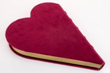 Close heart-shaped book