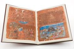Double-page opening of the Vienna Genesis
