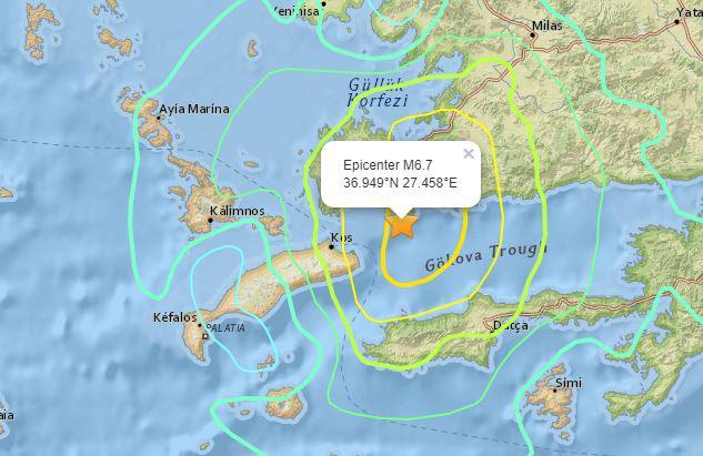 Από 6,4 έως 6,9 ρίχτερ οι εκτιμήσεις για το μέγεθος του σεισμού στη Κω