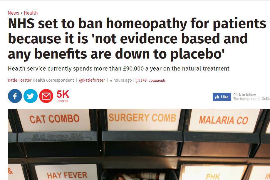 National Health Service: Οι γιατροί πρέπει να σταματήσουν να συνταγογραφούν ομοιοπαθητικά σκευάσματα
