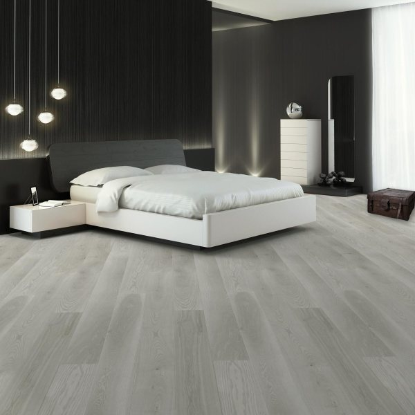 Grey Engineered Wood Flooring   Factory Direct Flooring Sale Abbey Ruthin 14mm Grey Oak Matt Lacquered Click Engineered Floor