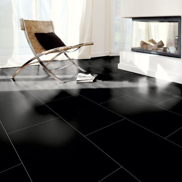 kronotex gloss black laminate tiles