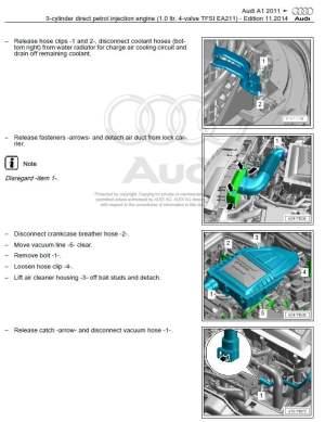 Audi A1 20102016 factory repair manual | Factory Manual