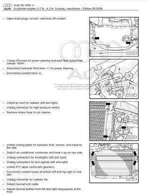 Audi A8 19942002 repair manual | Factory Manual