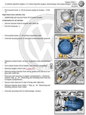 Volkswagen Tiguan 20082016 repair manual | Factory Manual