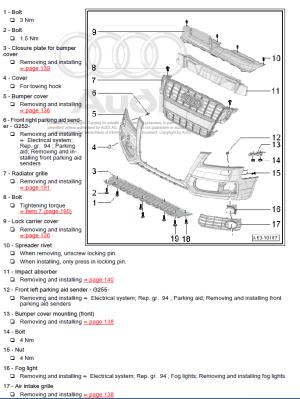 Audi A3 20132018 factory repair manual