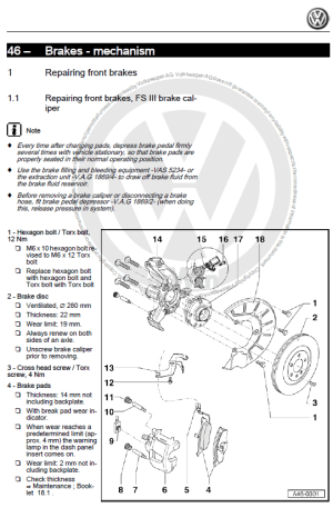 Volkswagen Golf 6 VI 20092013 factory repair manual