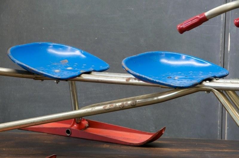 Vintage Tandem Childs Tri Ski Sled Factory 20