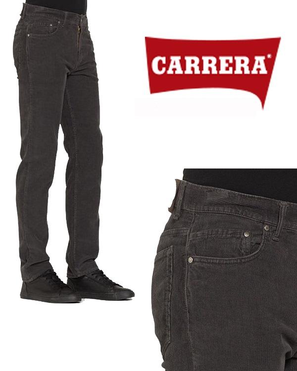 Pantalone Velluto da Uomo Carrera Grigio